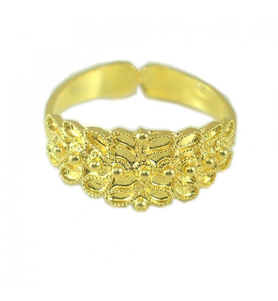 Anello filigrana fede sarda campidanese oro giallo 18 ct Anello Sardegna