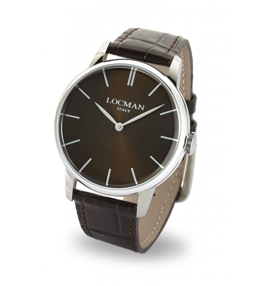 Locman 1960 orologio solo tempo classico grigio