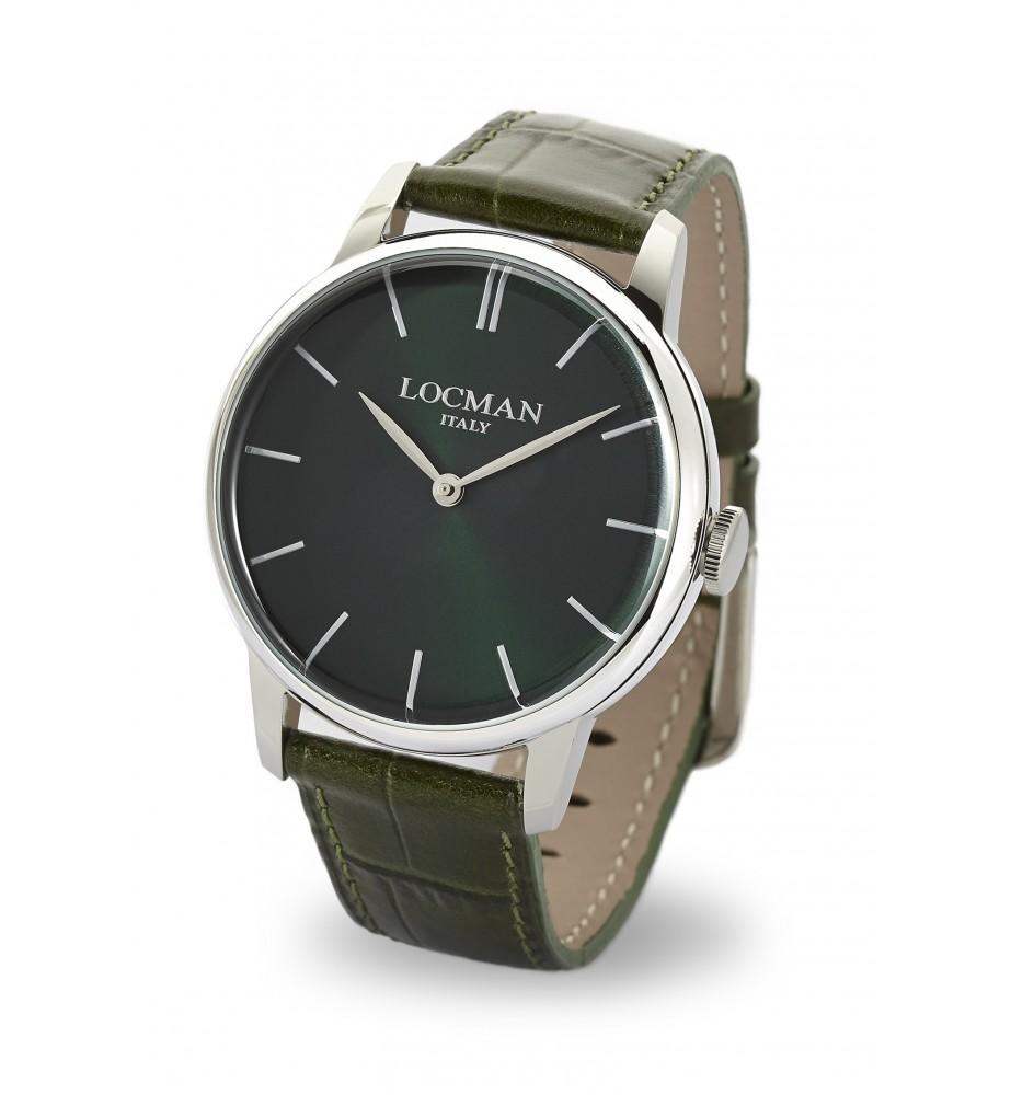 Locman 1960 orologio solo tempo classico marron