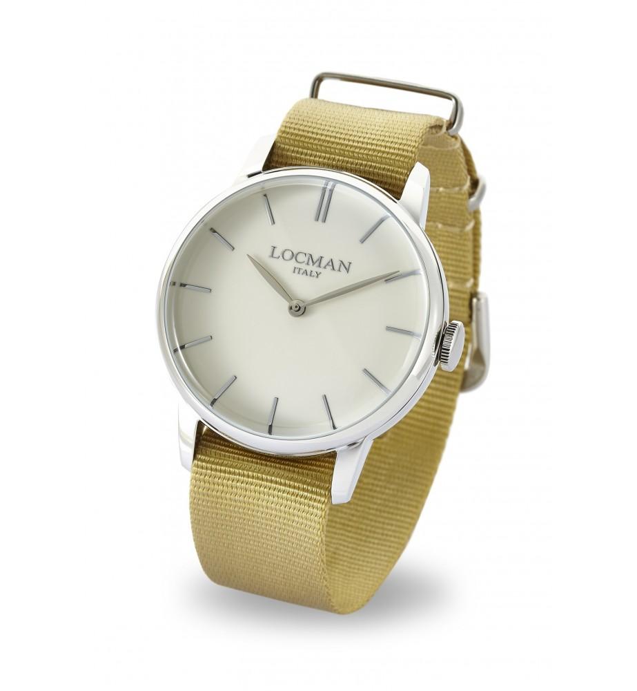 Locman 1960 orologio solo tempo classico avorio