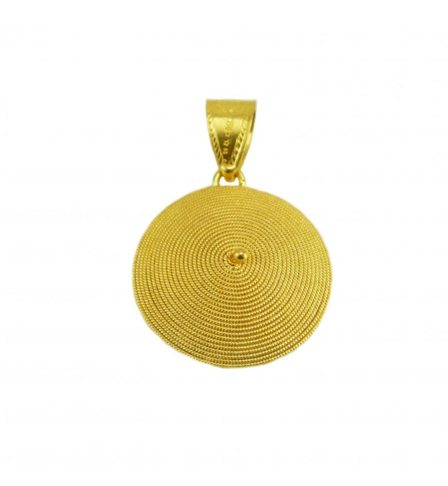 Ciondolo corbula in oro giallo artigianato sardo _ Realizzato a mano