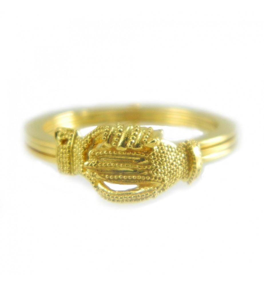 Anello filigrana fede sarda maninfide oro giallo 18 kt Gioiello Sardegna
