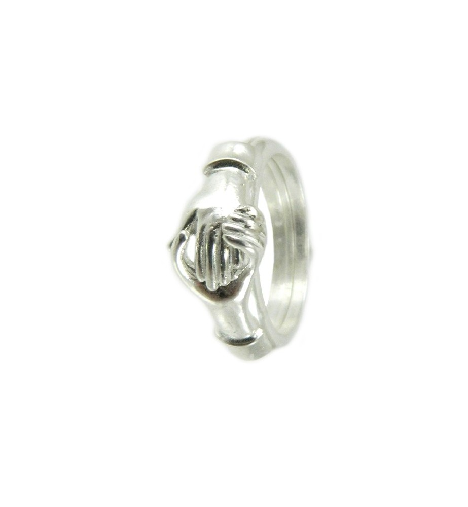 valore eccezionale sfumature di vendite all'ingrosso Fede sarda maninfide anello argento fidanzamento mani stringono