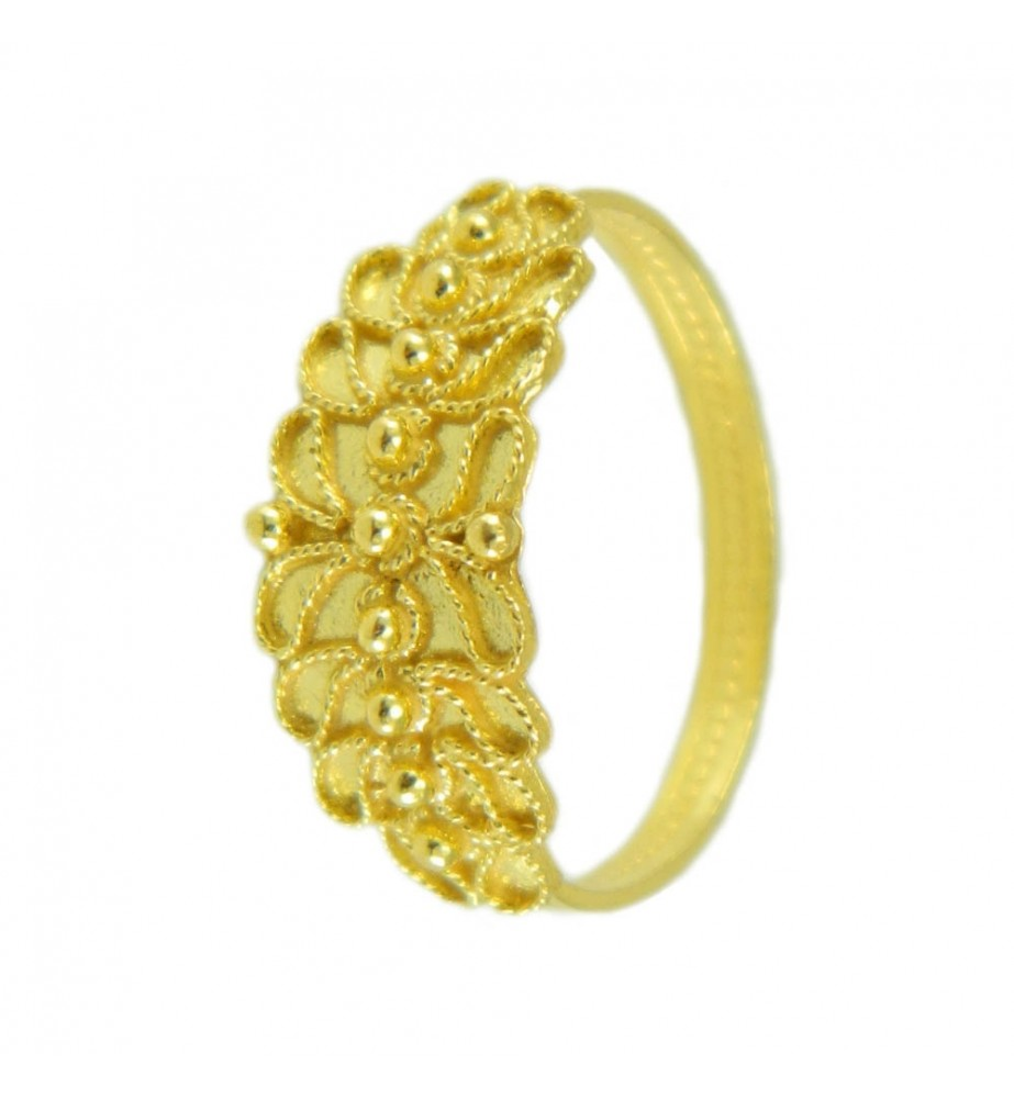 Fede Sarda filigrana in oro giallo Campidanese