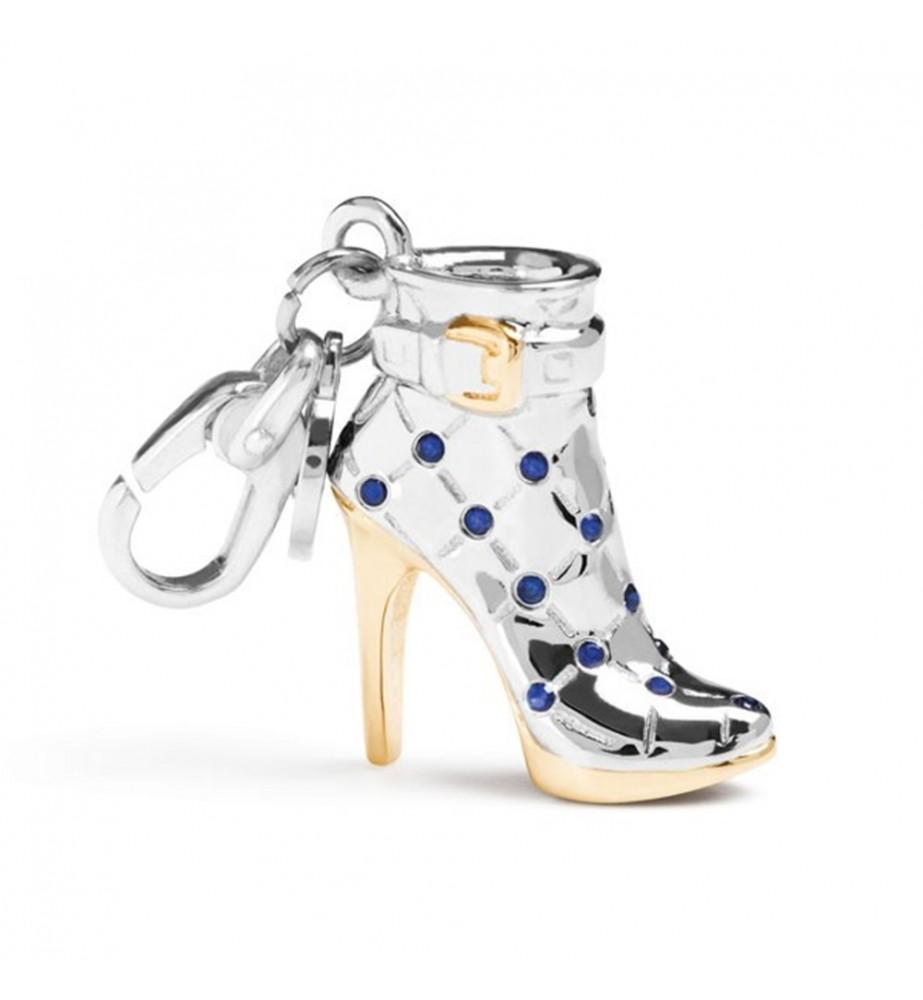 Ciondolo Rosato MY SHOES argento Stivaletto placcato oro con zirconi blu SH010