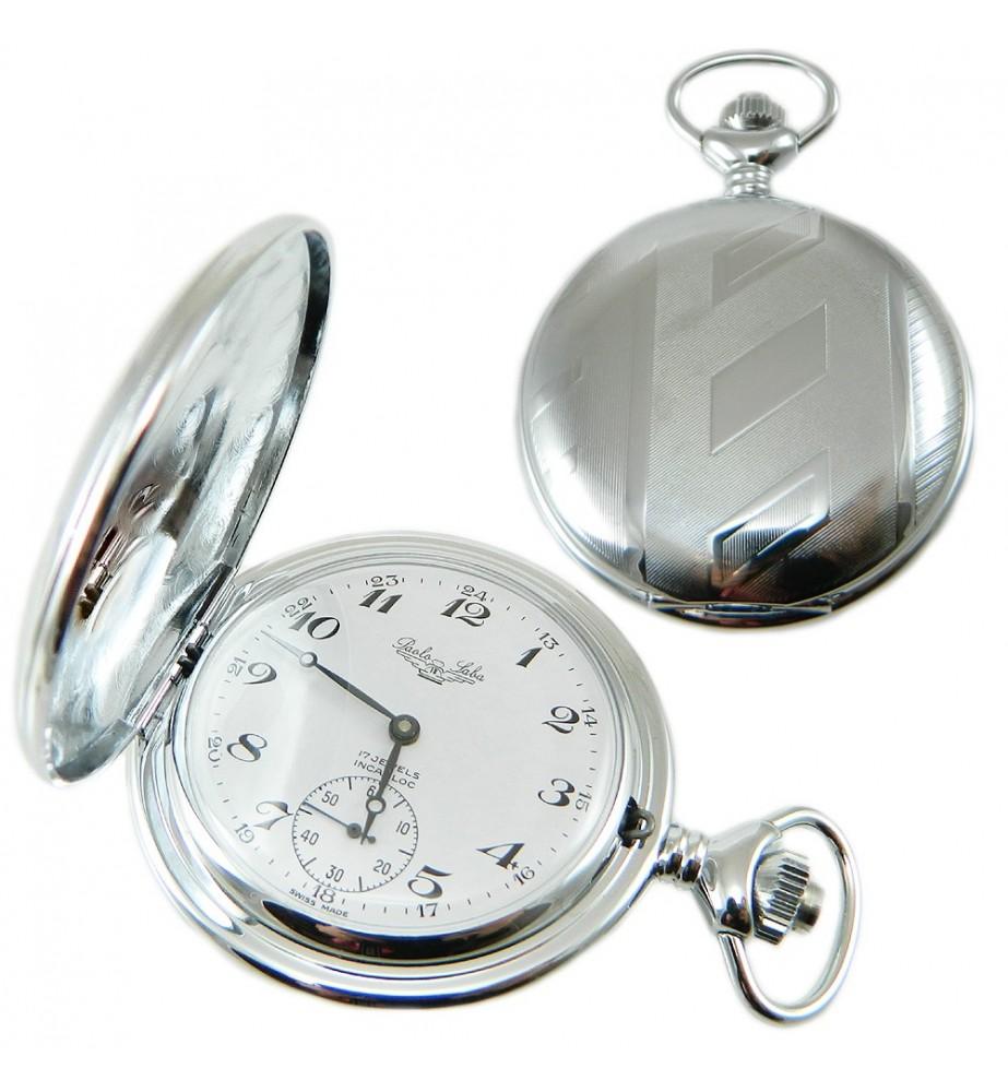 Orologio tasca acciaio savonette lavorato carica manuale personalizzabile