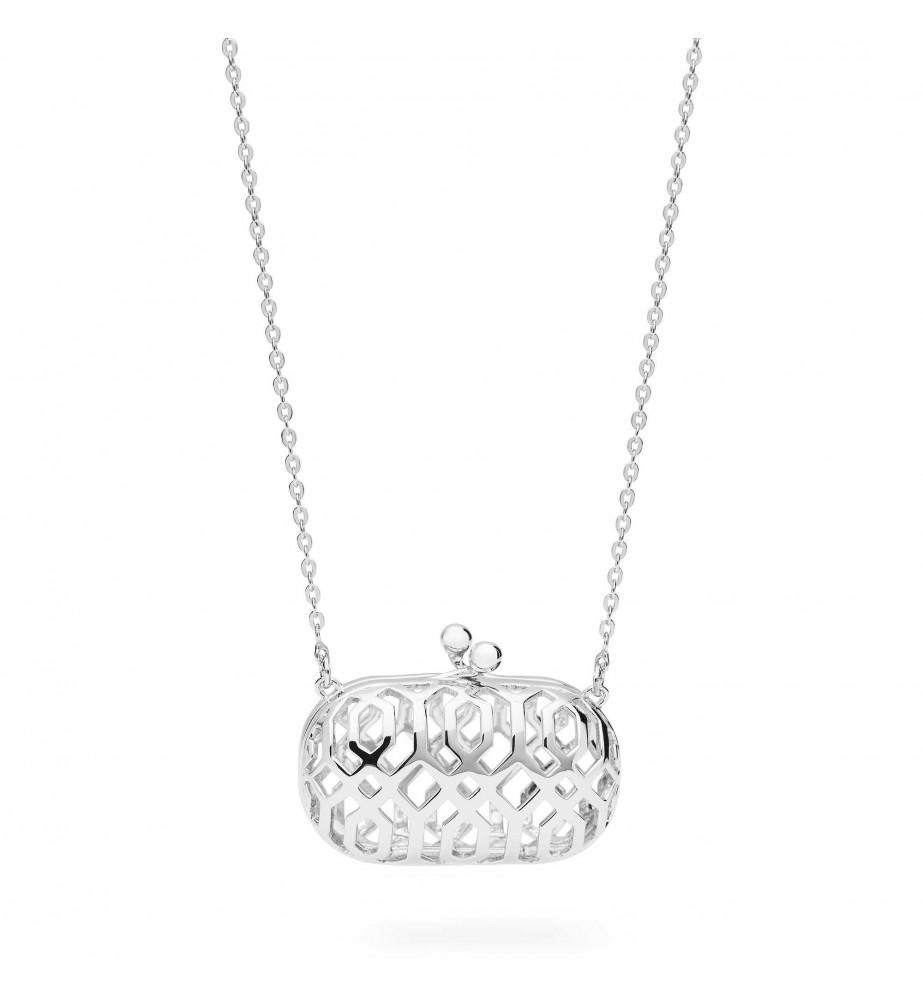 Rosato Icone collana in argento con pendente borsa pochette apribile ic27