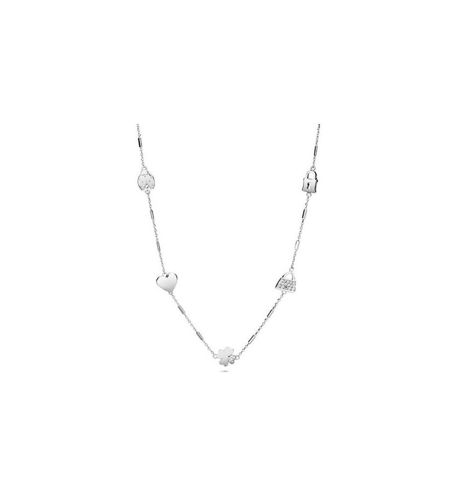 Rosato collana linea Sogni in argento intercalari con zirconi rso01